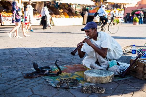 kurioses treiben auf Jemaa El Fnaa (Unesco)