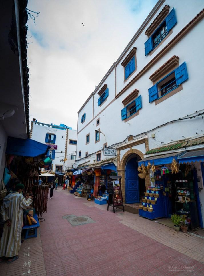 schmalen Straßen in Essaouira
