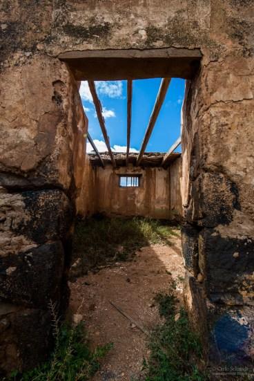 die Überreste eines Gefängnisses bei La Olivia