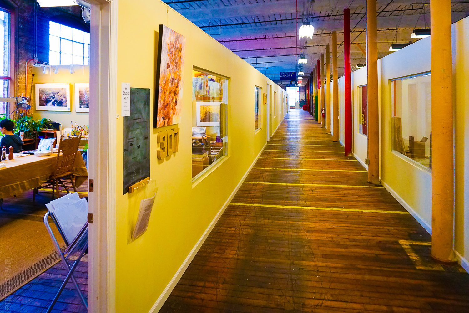artist collective loft hallyway