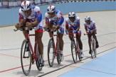Cuarteta dominicana que conquisto la medalla de plata en la persecución por equipos