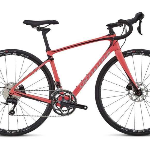 Bic. 700 Specialized Ruby Elite size 44 rojo acido/Fthy blanco/negro 90218-4044