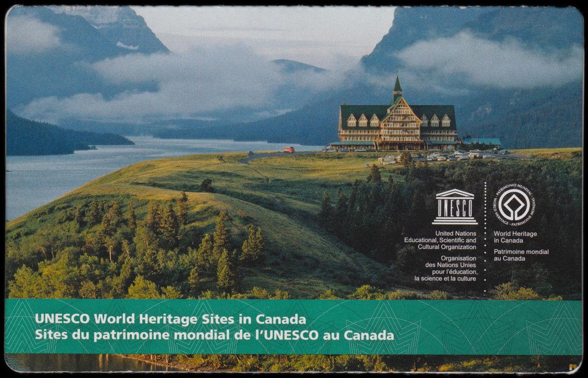 Canada 2849a Sites Du Patrimoine Mondial De LUnesco