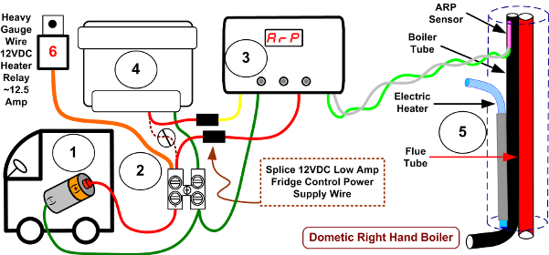 dometic control box wiring