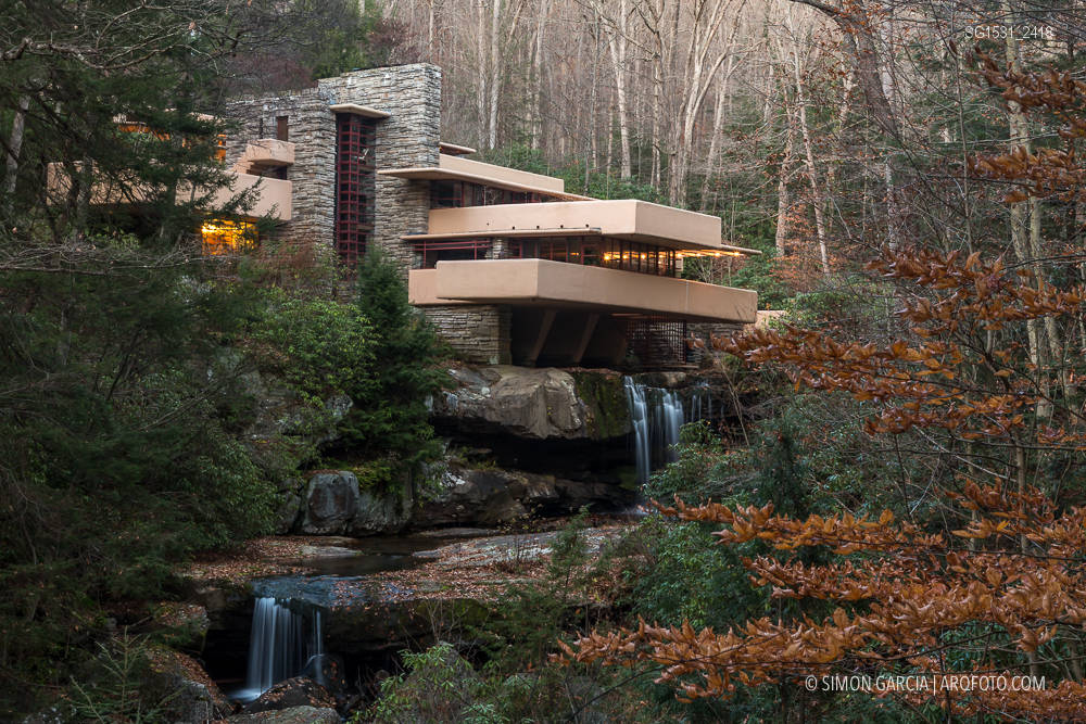 Fallingwater Casa de la Cascada de FLl Wright  Simn Garca  arqfoto