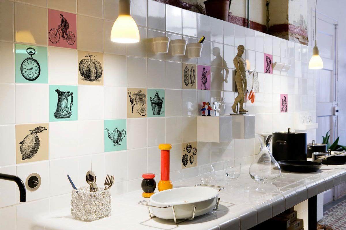 Azulejos con dibujos para cocina  Materiales de