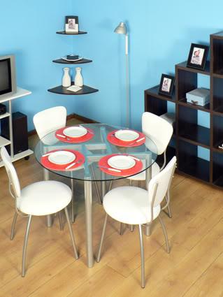 Elegir la mesa ideal para un comedor pequeo