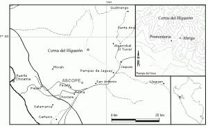 Pictografías en la Quebrada del Higuerón Valle Chicama, Perú