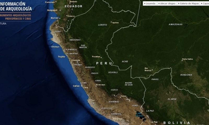 Implementan Sistema de Información Geográfica de Arqueología del Perú