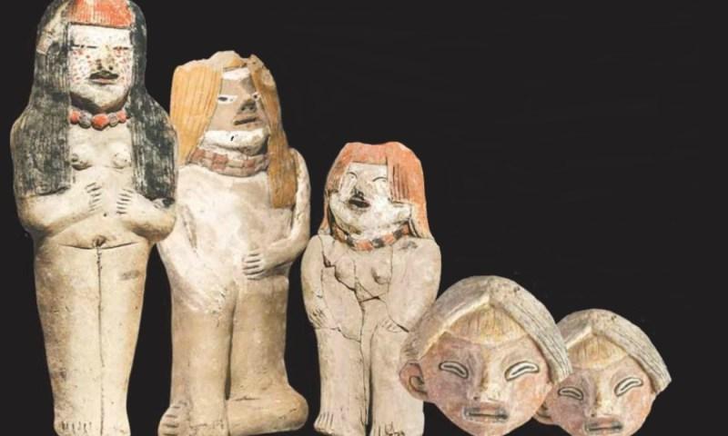Hallan figuras de arcilla de sacerdotiza y gobernantes de civilización Caral