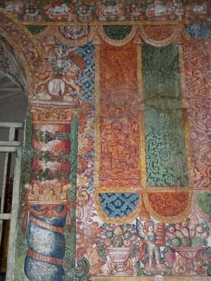 murales textiles, Iglesia de Huaro, Provincia de Quispicanchi, finales del siglo 18.