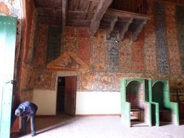 Vista de murales textiles, Iglesia de Ocongate, provincia de Quispicanchi, finales del siglo 18.
