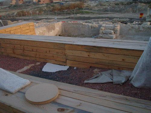 Aspecto propuesta museográfica de los robles en el febrero 2007