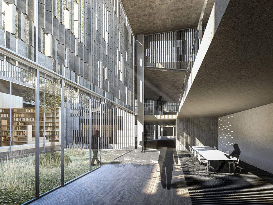 Biblioteca en antiguos edificios industriales  arquiayuda Ayuda PFC Arquitectura Servicios de arquitectura para profesionales y estudiantes de