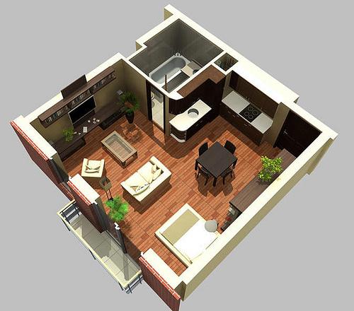 Decoracion de Apartamento tipo Estudio