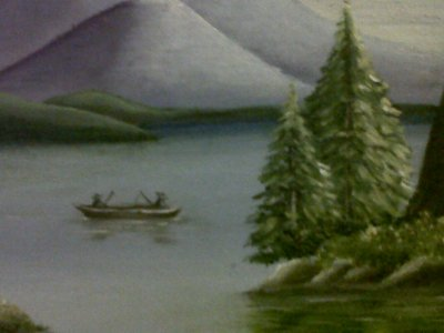 Pescando no lago
