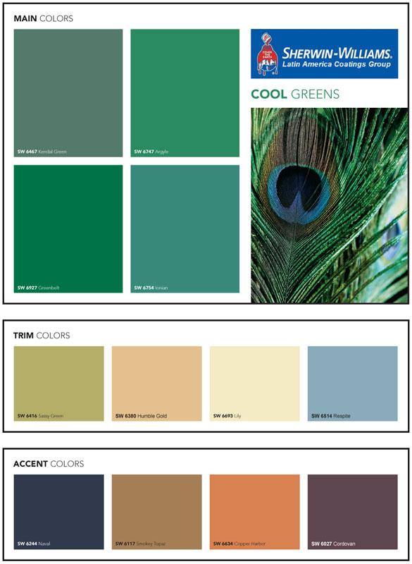 Lanzamiento nueva paleta de Verdes de Sherwin Williams