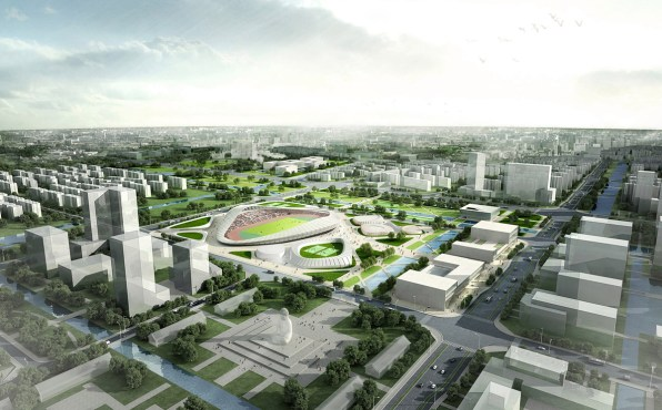 Nantong Sports Center Competition - HENN StudioB