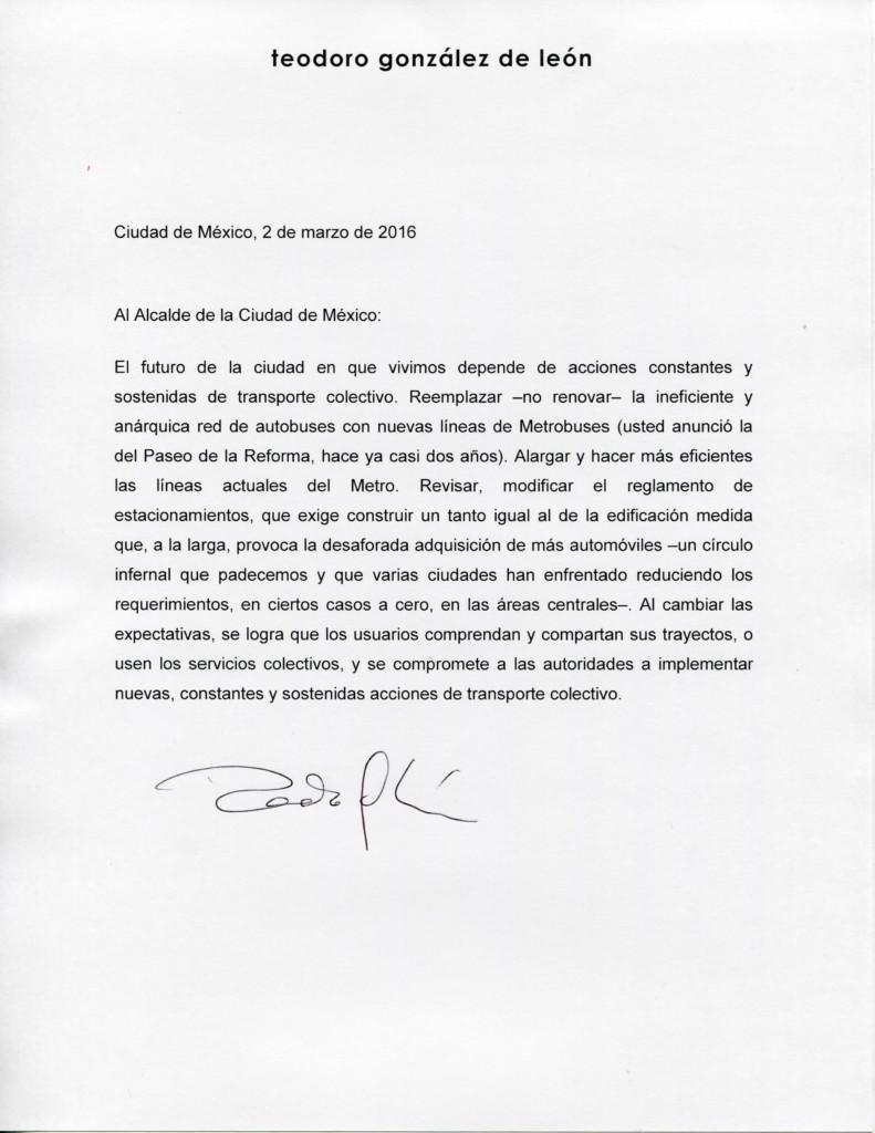 Carta al Alcalde TGL
