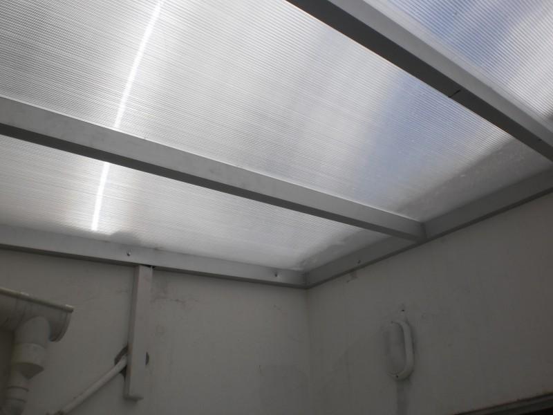 Arquitectura  Aluminio  Techos  Alero en policarbonato