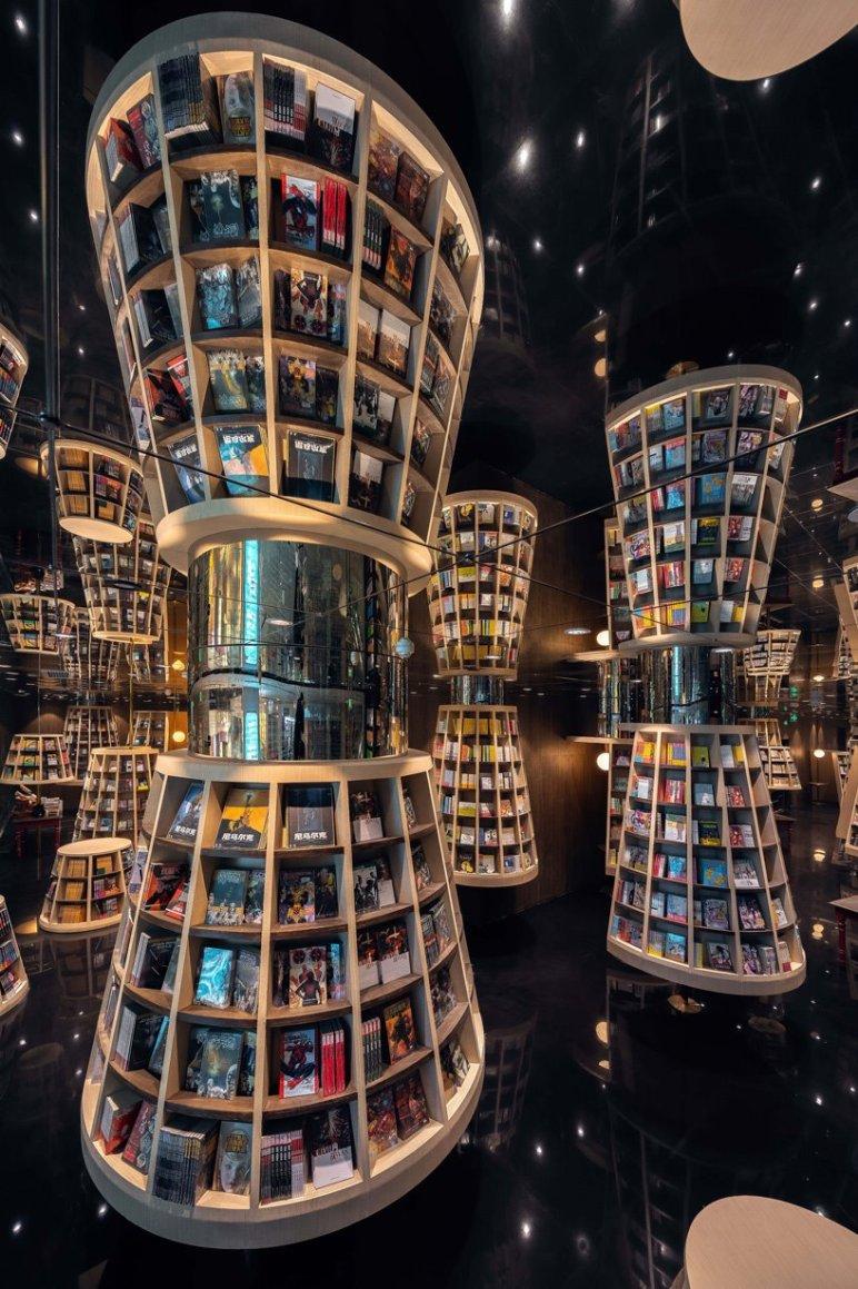 librería chongqing estanterías