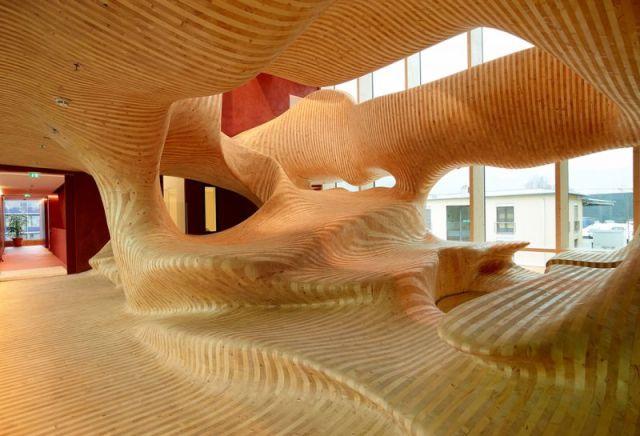 arquitectura con madera CLT_Campus building OMICRON electronics GmbH