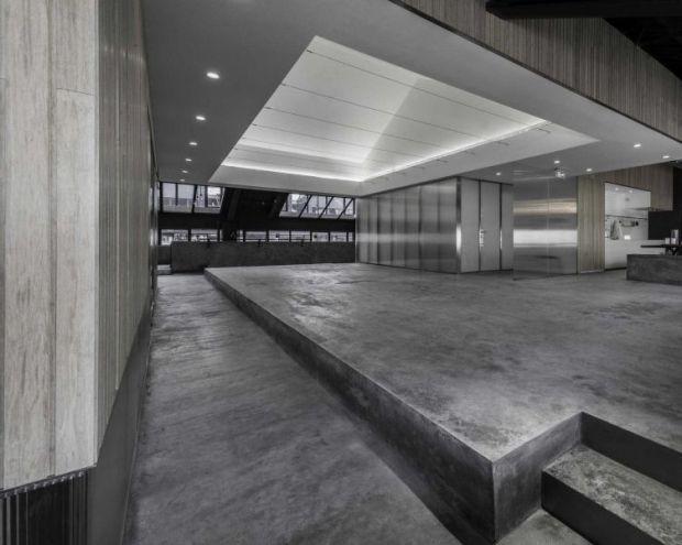 Vista del espacio expositivo de Flamingo Shanghai Offices, Neri&Hu