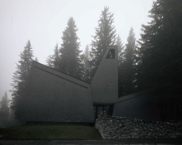 arquitectura Marcel Breuer Flaine fotografías Valentin Jeck exterior capilla