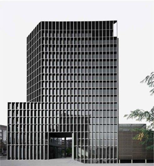 Torre de oficinas en el Campus Audiovisual - Carlos Ferrater