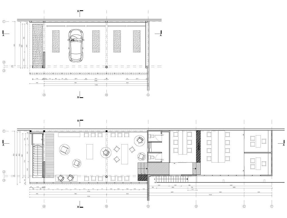 Planta Arquitectonica - Showroom Ofimodul
