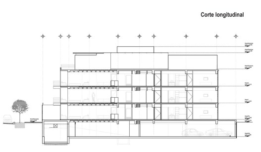 Galileo | Corte Longitudinal - Pascal Arquitectos