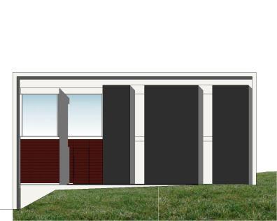 """Casa en """"A-Zapateira"""" – a.f. abeijón-fernandez arquitectos / Alzado Norte"""