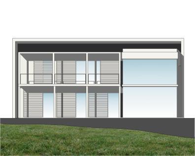 """Casa en """"A-Zapateira"""" – a.f. abeijón-fernandez arquitectos / Alzado Sur"""