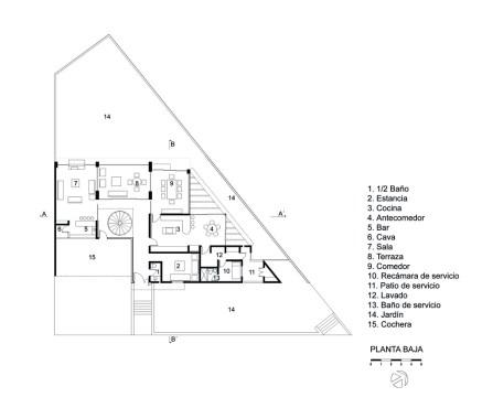 Casa E - Agraz Arquitectos / Planta Baja