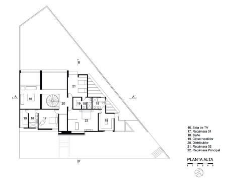 Casa E - Agraz Arquitectos / Planta Alta