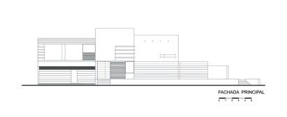 Casa E - Agraz Arquitectos / Alzado Principal Oriente