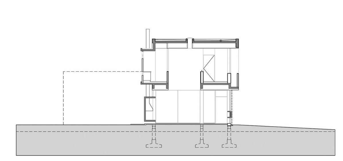 Casa en Haras Santa María - Daniel Ventura / Corte Transversal