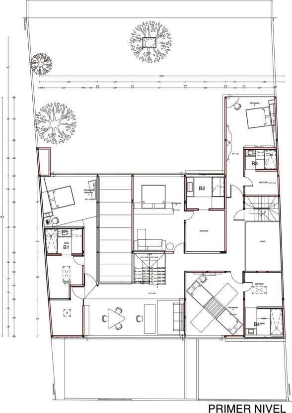 Casa AP - DIN Interiorismo / Planta Primer Nivel