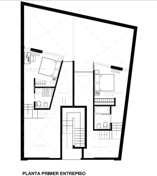 Charlone 1213 - Estudio Nussbaum / Planta Primer Entrepiso