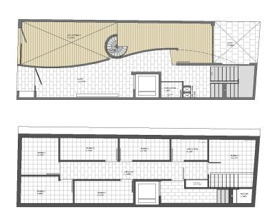 Edificio de Viviendas San Luis - a.f. abeijón-fernandez arquitectos / Planta Sótano y PB