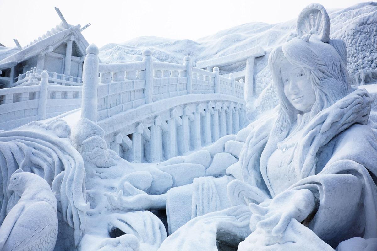 """نتيجة بحث الصور عن مهرجان """"الثلج والجليد"""" في اليابان"""