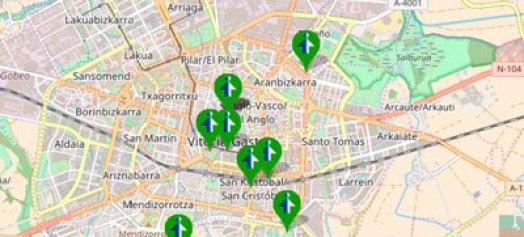 Mapa de colaboradores de Lanbide en Araba