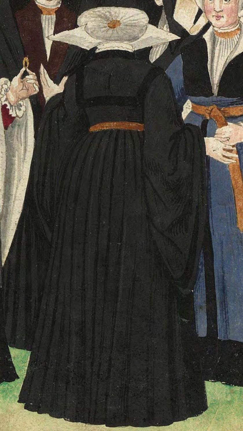 1540s Cologne Burger. Fig. 3, plate 45r, Codice de trajes, Christoph Weiditz. BNE bdh0000052132