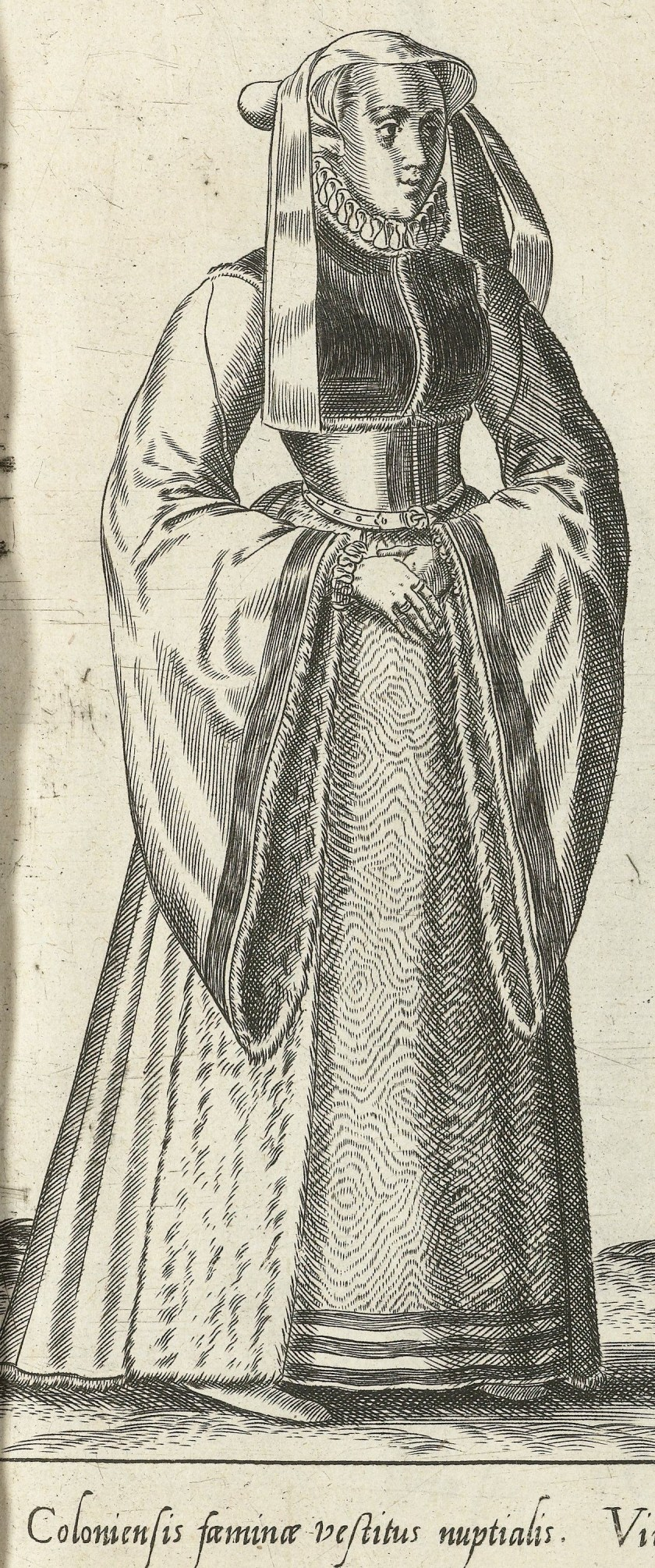1581 Cologne. Fig. 1, page 11, Omnium pene Europae, Asiae, Aphricae, Americae gentium habitus [...] de Bruyn. Rijsmuseum BI-1895-3811