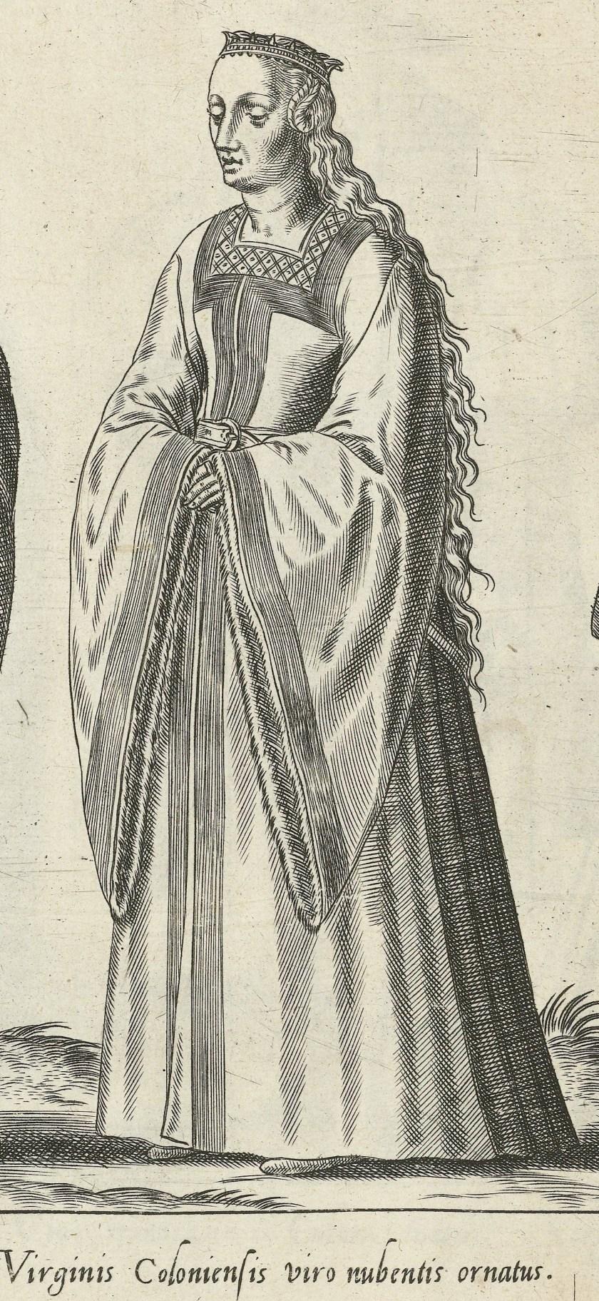 1581 Cologne, bride. Fig. 2, page 11, Omnium pene Europae, Asiae, Aphricae, Americae gentium habitus [...] de Bruyn. Rijsmuseum BI-1895-3811