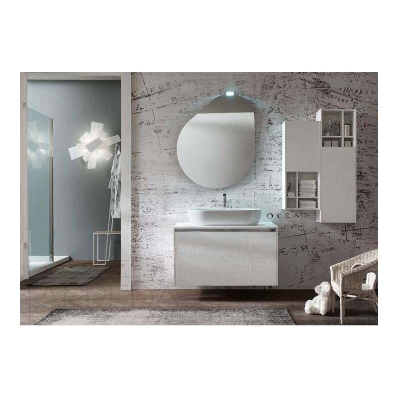 II Mobile Bagno lavabo appoggio Nodo bianco Go41  1000