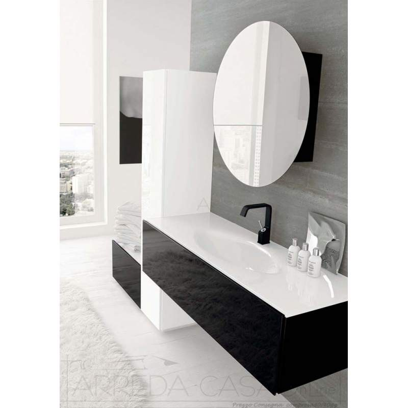 II Mobile Bagno moderno bianco nero lucido Lin05  2000