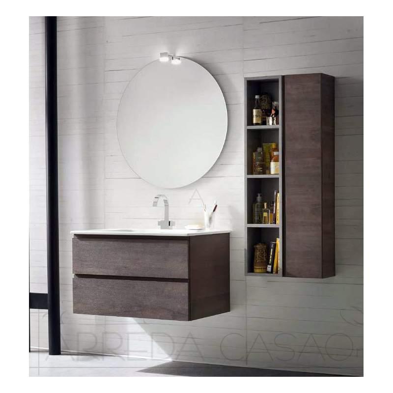 II Arredo mobile bagno moderno sospeso legno scuro Fant4stic CL009  0 1000 euro  Prezzi