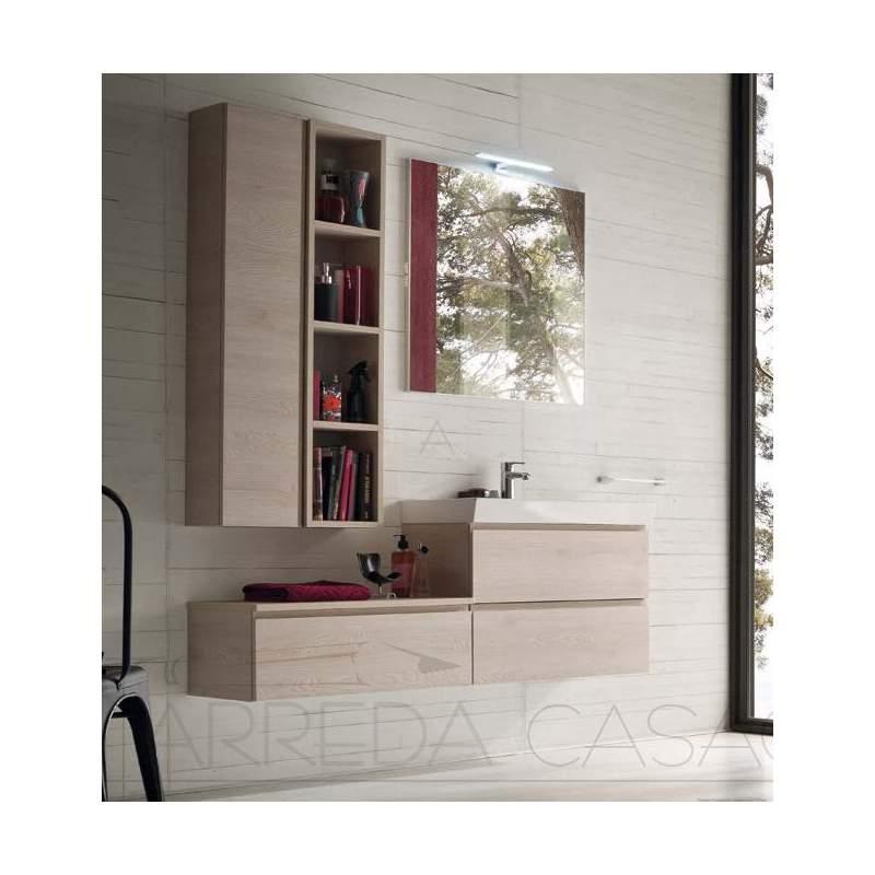 II Mobile bagno design moderno finitura legno naturale