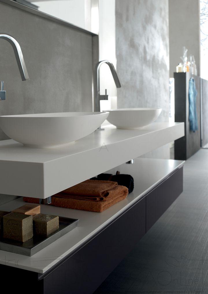 Mobile Arredo Bagno doppio lavabo top 10cm Yago29  eBay